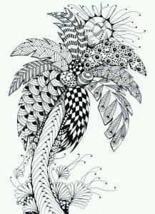 раскраски листья и деревья (21)