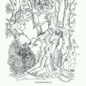 раскраски листья и деревья (22)