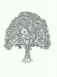 раскраски листья и деревья (23)