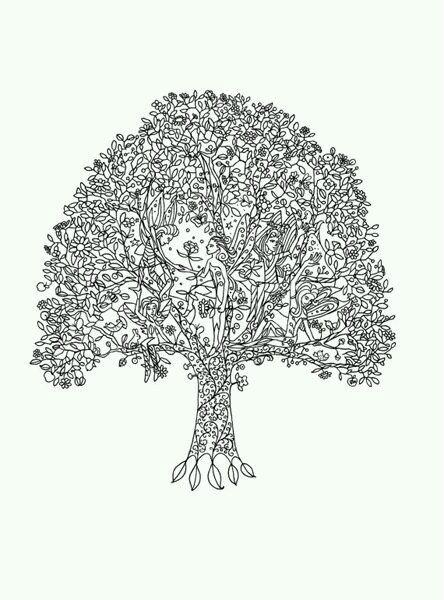 -листья-и-деревья-23 раскраски листья и деревья (23)
