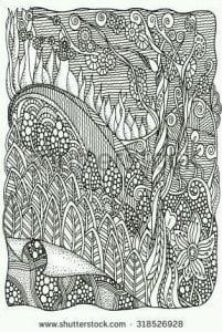 раскраски листья и деревья (24)