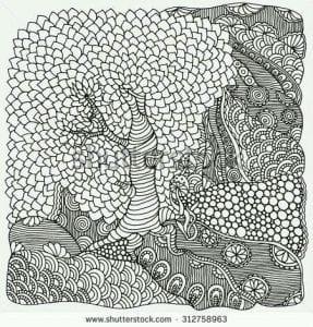 раскраски листья и деревья (25)