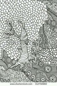 раскраски листья и деревья (26)