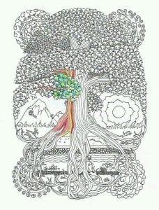 раскраски листья и деревья (28)