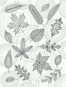 раскраски листья и деревья (30)