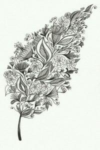 раскраски листья и деревья (31)