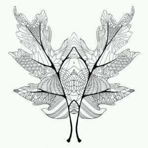 раскраски листья и деревья (32)