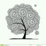 раскраски листья и деревья (35)