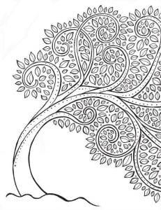 раскраски листья и деревья (39)
