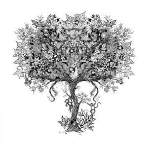 раскраски листья и деревья (4)