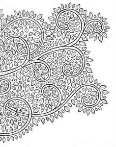 раскраски листья и деревья (40)