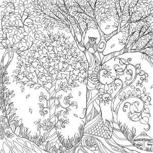раскраски листья и деревья (43)