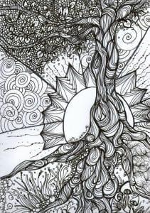 раскраски листья и деревья (44)