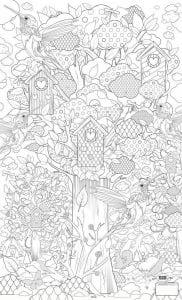 раскраски листья и деревья (45)