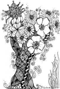 раскраски листья и деревья (46)