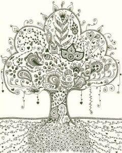 раскраски листья и деревья (47)