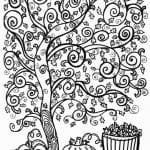 раскраски листья и деревья (48)
