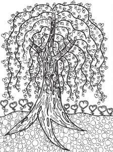 раскраски листья и деревья (55)