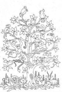 раскраски листья и деревья (57)