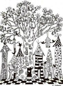 раскраски листья и деревья (58)