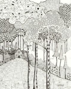 раскраски листья и деревья (59)