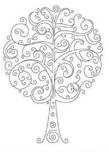 раскраски листья и деревья (60)