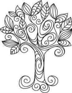 раскраски листья и деревья (61)