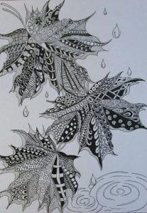 раскраски листья и деревья (7)
