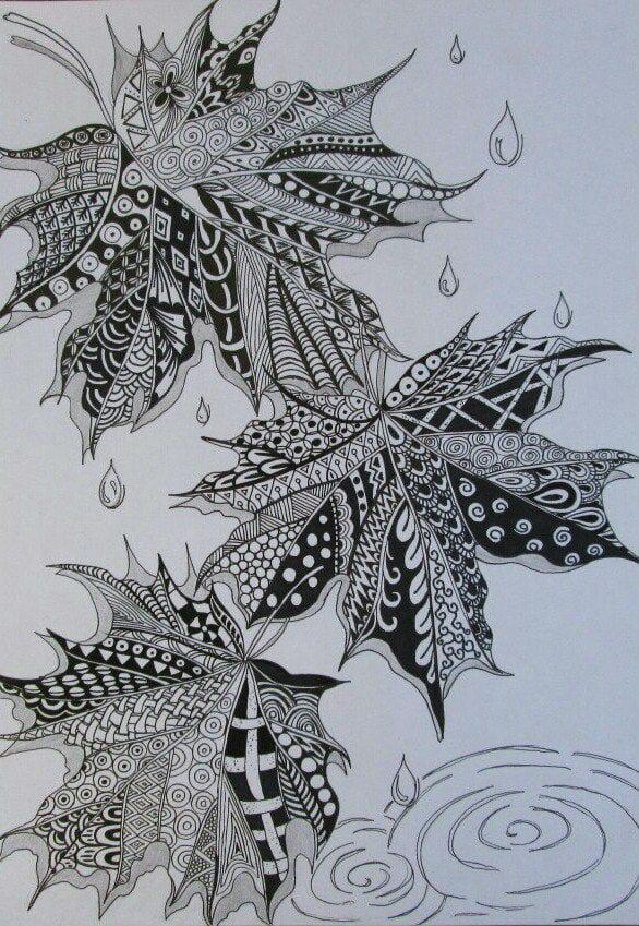 -листья-и-деревья-7 раскраски листья и деревья (7)