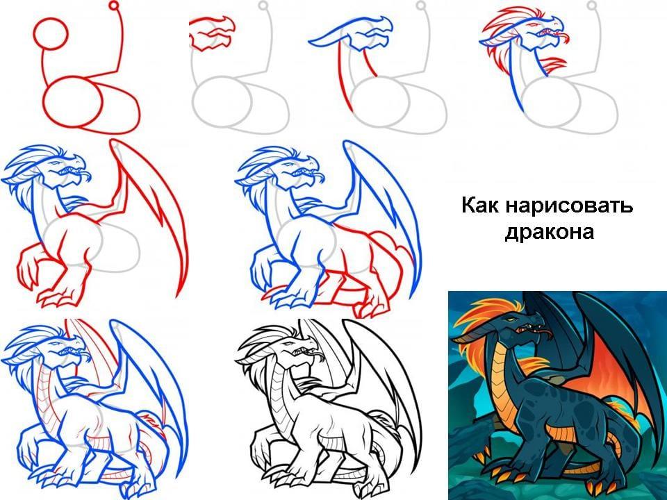 Как нарисовать кота поэтапно для детей