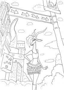 зверополис раскраска из мультика (39)