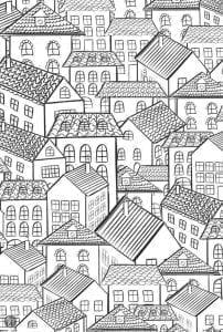 здания раскраски (10)