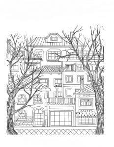 здания раскраски (107)