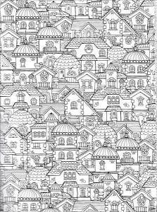 здания раскраски (110)