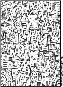 здания раскраски (123)
