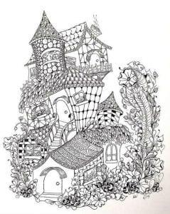 здания раскраски (28)