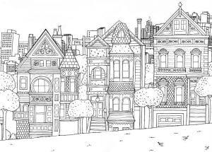 здания раскраски (3)