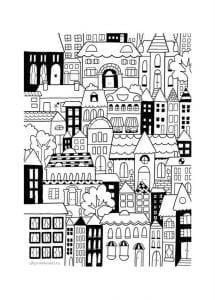 здания раскраски (34)