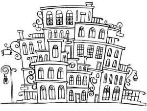здания раскраски (46)