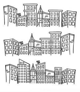 здания раскраски (47)