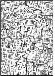 здания раскраски (54)