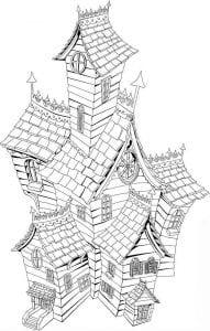 здания раскраски (60)