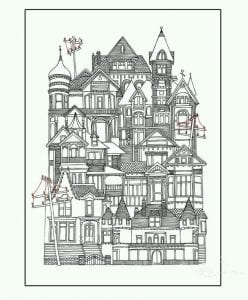 здания раскраски (76)
