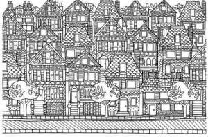 здания раскраски (81)
