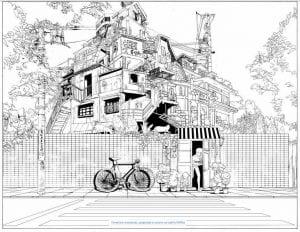 здания раскраски (90)