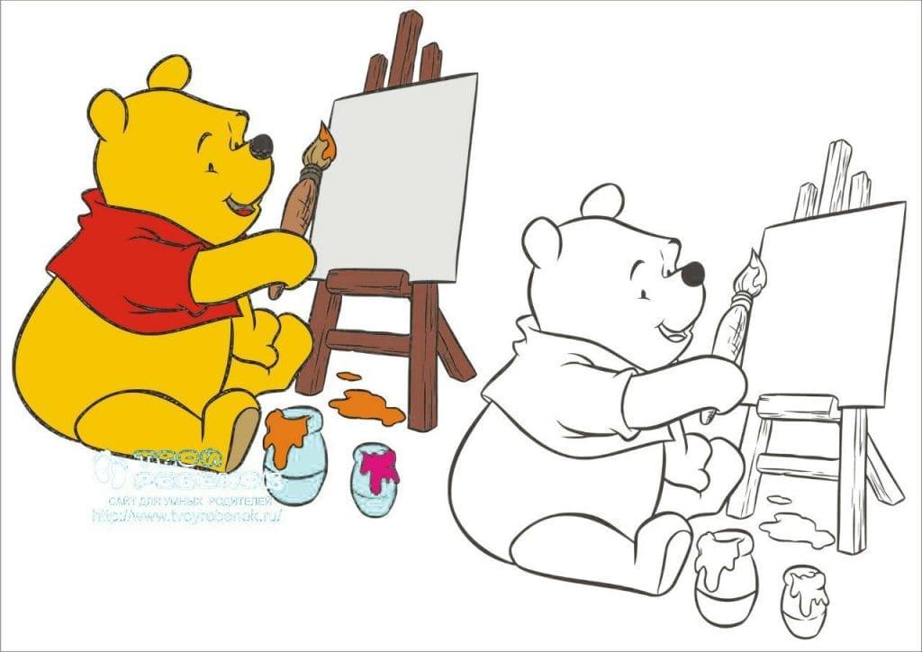 Винни пух рисует картинки