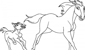 спирит раскраска (3)