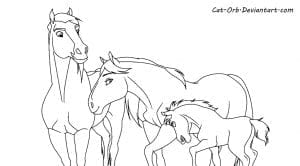 Rain Horse Coloring Page Coloring Panda with regard to Coloring Pages Of Spirit The Horse And Rain