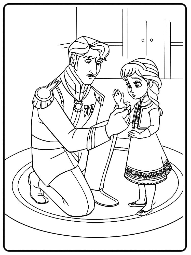 холодное сердце раскраски мультфильм (1)
