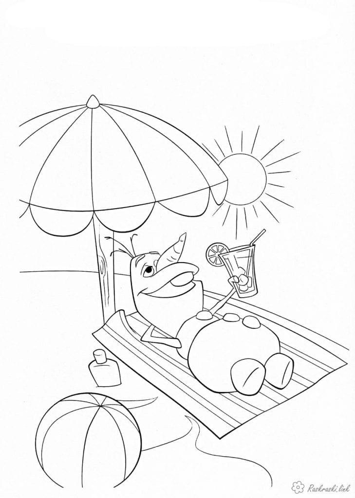 холодное сердце раскраски мультфильм (12)